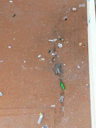 H·TOP Olympic: View from our balcony ( cleaned daily ) but it was just same after every night