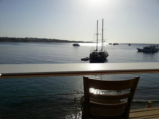 Lido Sharm Hotel: view from the 2nd floor bar