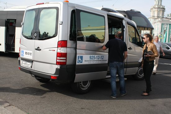 UlkoTours: Our wheelchair accessible bus with lift for wheelchair