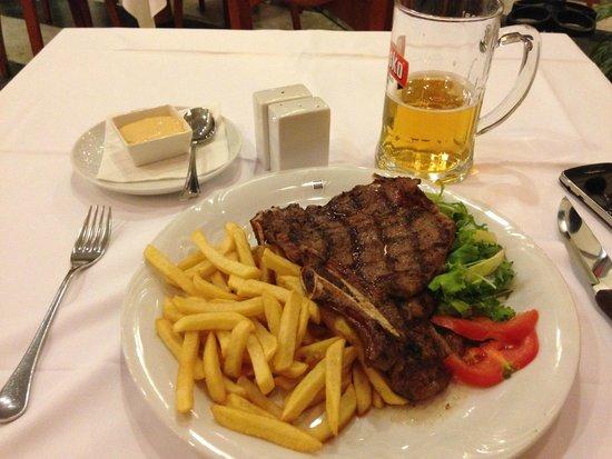 Costoletta Con Patatine Fritte Picture Of American Steak House And Grill Zagreb Tripadvisor