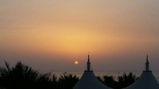 The Ritz-Carlton, Dubai: Sunset from the Club Lounge