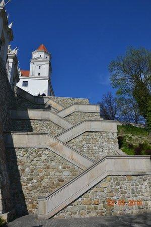 Bratislava Castle (Hrad): Вот такие там лесенки