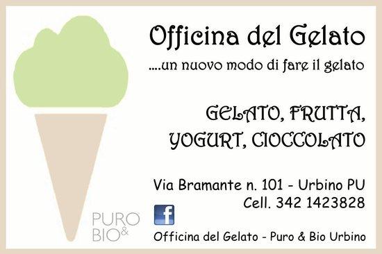 Officina del Gelato - Puro & Bio: Biglietto da visita