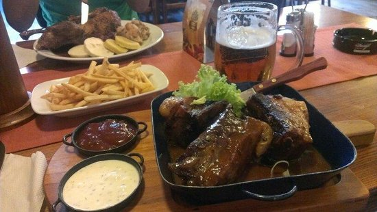 Zlaty Klas: Duck and the baked pork ribs