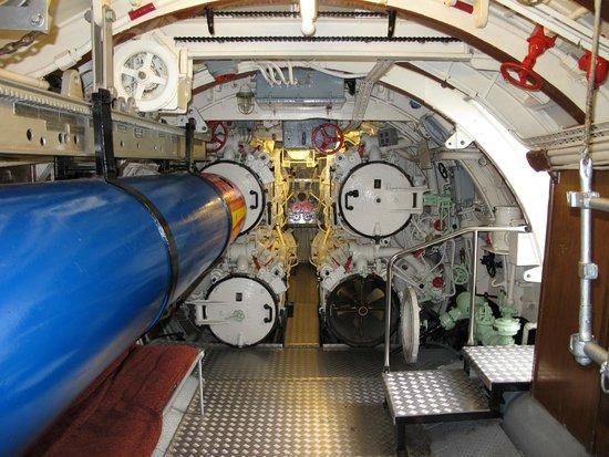 U-Boot U 995: U-995, bow torpedo room