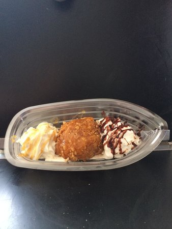 Lickity Splits: Deep fried ice cream... A new item!