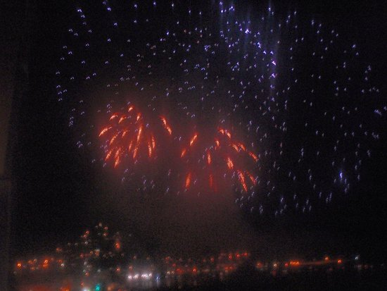 Apartments El Sorrall : View of the fireworks