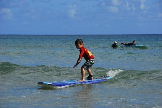 Hawaiian Surfing Adventures: My 5 year old learning to surf