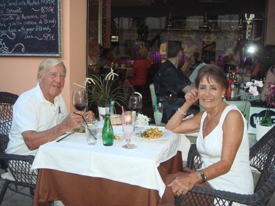 Restaurante Vino Mio: romantic dinner on the terrace