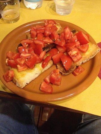 La Vecchia Nicchia - Renascimentho: Bruschette con pomodoro fresco