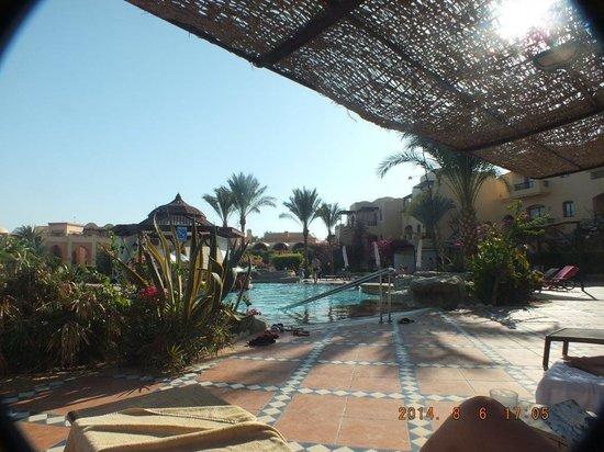 Steigenberger Coraya Beach: By the swim up bar pool