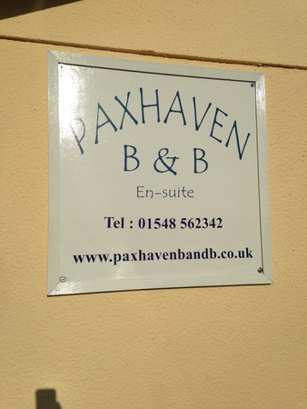 Paxhaven Organic Bed & Breakfast: Our sign