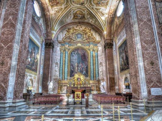 Basilica di Santa Maria degli Angeli e dei Martiri: Basilica S. Maria degli Angeli e dei Martiri - Interior