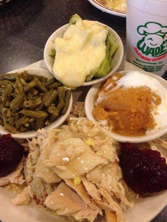 Wade's Family Restaurant: Turkey & dressing