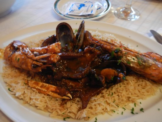 "Roka : Mixed Sea Food ""Stifado"" - cook in local vinsanto wine but not too sweet."