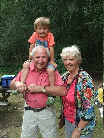 Thorndon Country Park: Grandparents and grandson