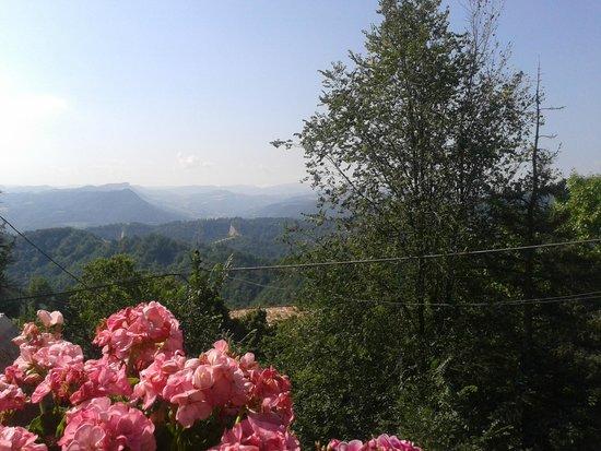 Agriturismo Fattorie di Montechiaro: panorama dal terrazzo dove si mangia