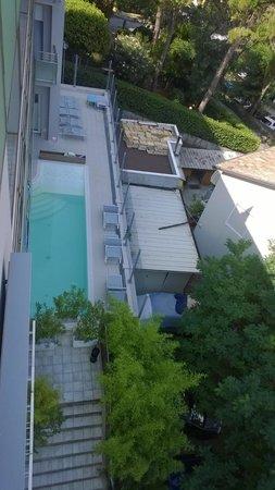 My Hotel Gabicce: Vista Piscina dal terzo piano