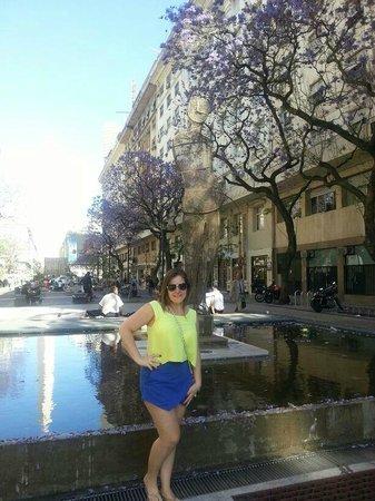NH Buenos Aires Crillón: praça em frente ao hotel