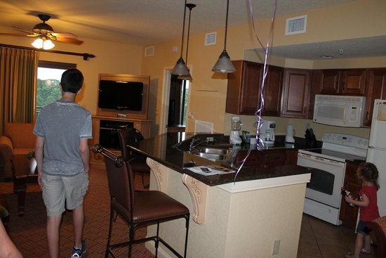 Wyndham Bonnet Creek Resort : main room of suite