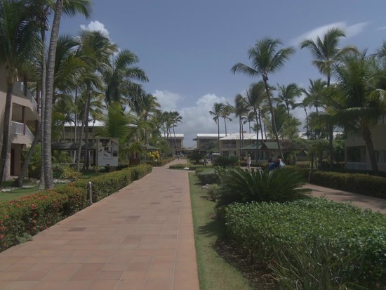 Sirenis Punta Cana Resort Casino & Aquagames: The main walkway between the beach/rooms and the hotel