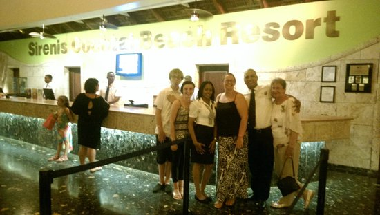 Sirenis Punta Cana Resort Casino & Aquagames: Us in reception with Warquidia and Miguel