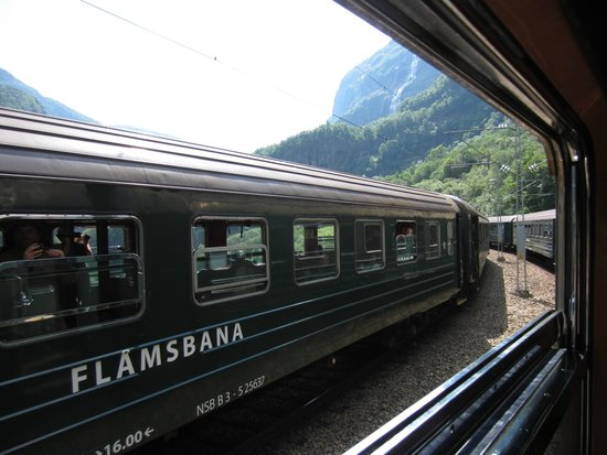 Fjord Tours: Passing another Flamsbana train