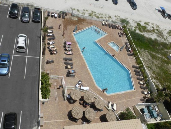 Hyatt Place Daytona Beach - Oceanfront: View of pool from room 1008