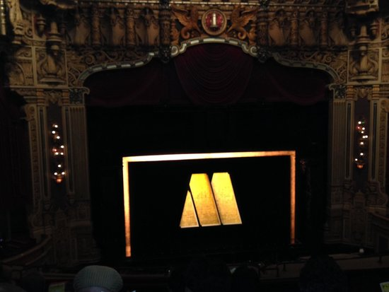 Motown The Musical on Broadway: The Stage Curtain At The 'Oriental' In Chicago