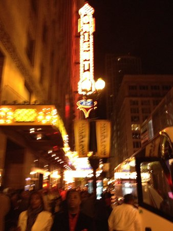 Motown The Musical on Broadway : The Marquee at the 'Oriental' Theatre