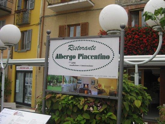Albergo Ristorante Piacentino : insegna del ristorante albergo