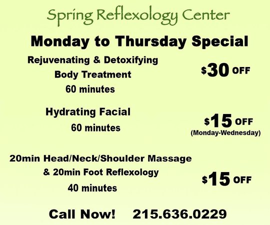 Spring Reflexology Center: Promotion