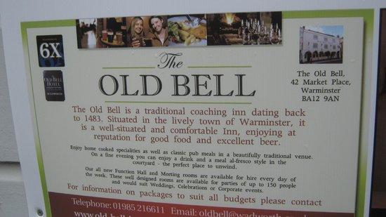 The Old Bell Inn: History of Old Bell Inn