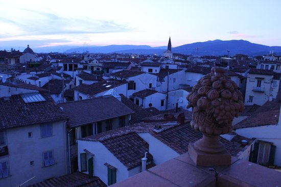 Hotel Tornabuoni Beacci : View from the tip top of the hotel