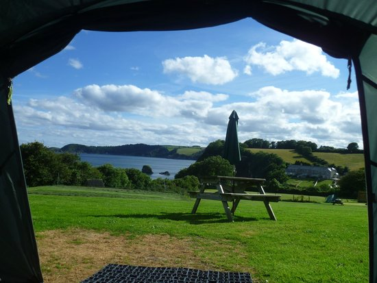 Broad Meadow House: View from our tent