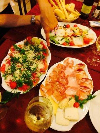 Pizzeria Don Pedro: Antipasti misti di affettati, carni, pesce e verdure