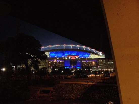 Sports Authority Field at Mile High: Mile High in blue