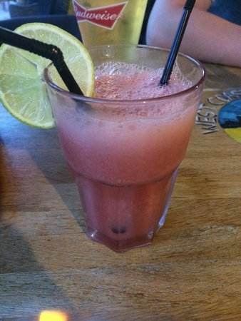 West Coast Rock Cafe: Strawberry daquiri !