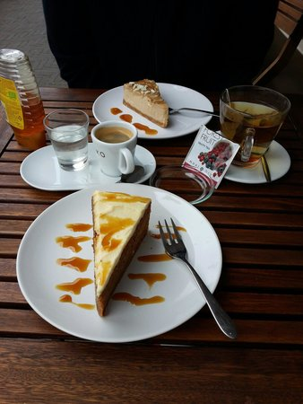 Cheesecake Company: Carrot cake and cappuccino cheesecake.  Very Good!!!!