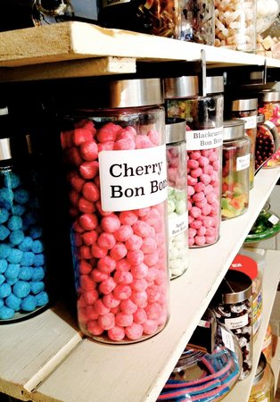 Nineteen-02 Tea Bar: British Candies (or sweeties) imported. How are you supposed to choose between these.  The Bon b