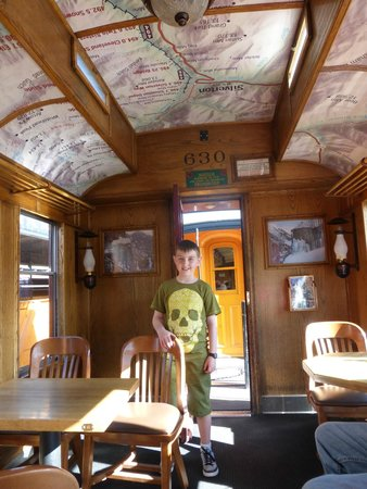 Durango and Silverton Narrow Gauge Railroad and Museum : Inside the Prosepctor car