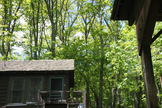 Lewis Mountain Cabins: above