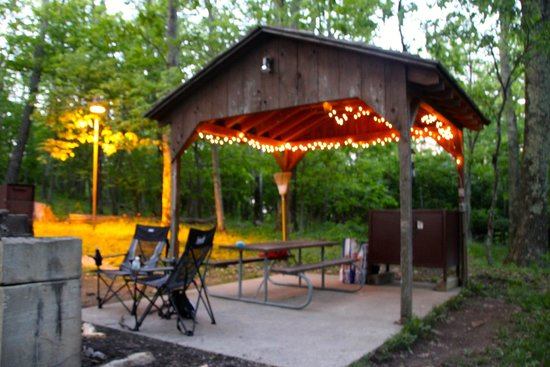 Lewis Mountain Cabins: lit up