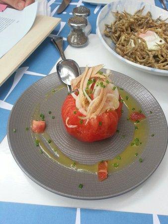 Hotel Llevant : Tomate con bonito y cebolla