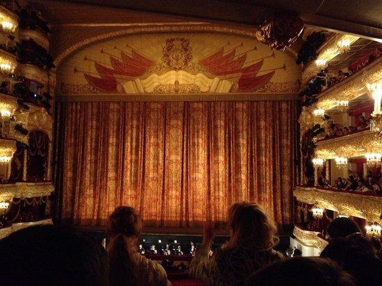 Bolshoi Theatre : Vista do palco do Teatro Bolshoi