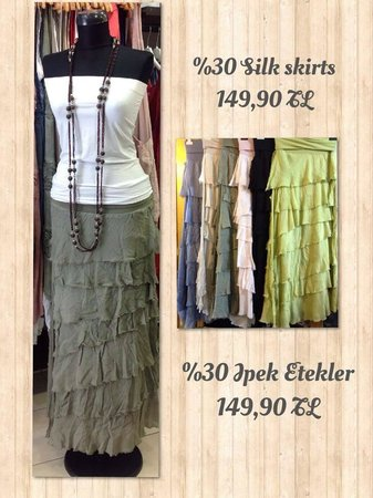 Downtown Fethiye: Silk Skirt