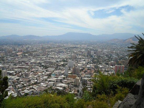 Colline San Cristóbal de Santiago : Vista panorâmica de Santiago