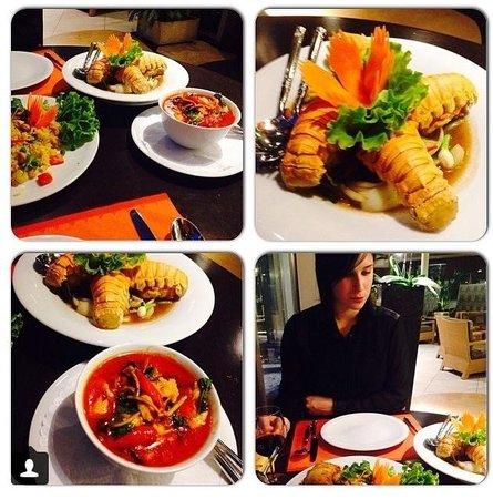 Le Jardin Thai: Queu de cigale et poulet ai curry :) excellent !