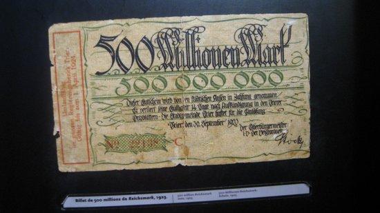 Mémorial de Caen : el dinero