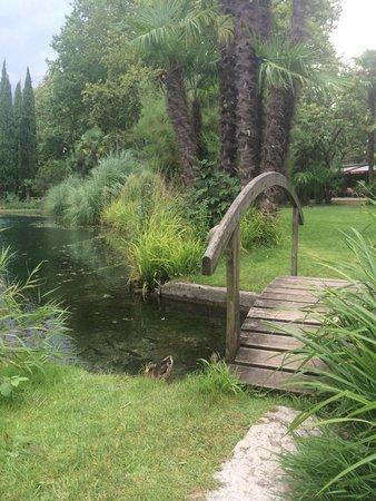 Du Lac et Du Parc Grand Resort : The small bridge on the pond